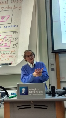 Roger Penrose speaking about twistors